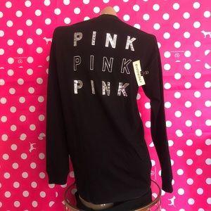 VS PINK Bling Long Sleeve Tee / Black